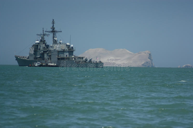 Download Military ship in Peru stock photo. Image of grey, green - 83715508