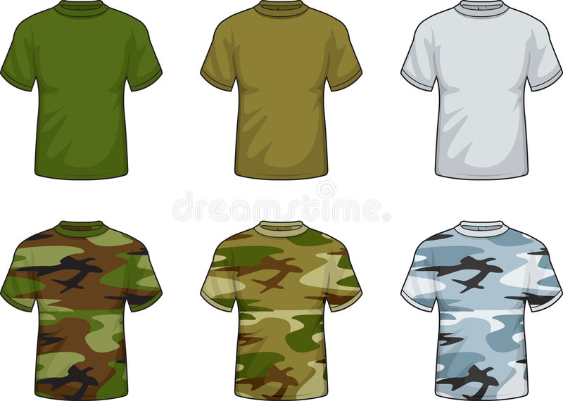Download Military Shirts stock vector. Illustration of military - 1952914