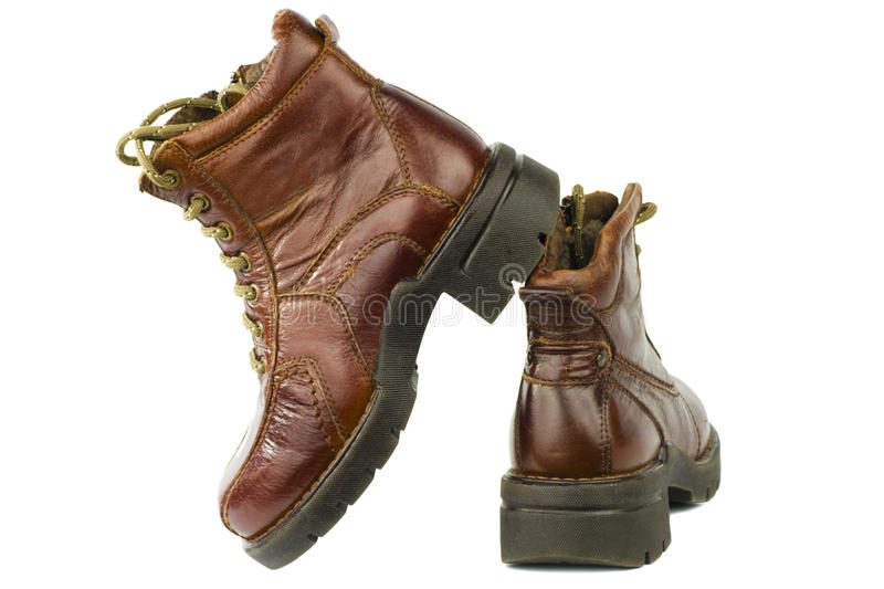 Military shoes royalty free stock photo