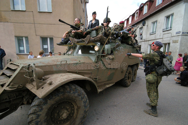 Download Military show editorial stock image. Image of people, street - 4183594
