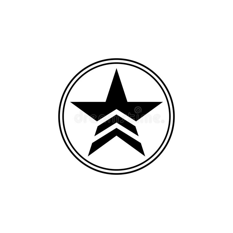 a military star in a circle icon. Element of communism illustration. Premium quality graphic design icon. Signs and symbols collec royalty free illustration
