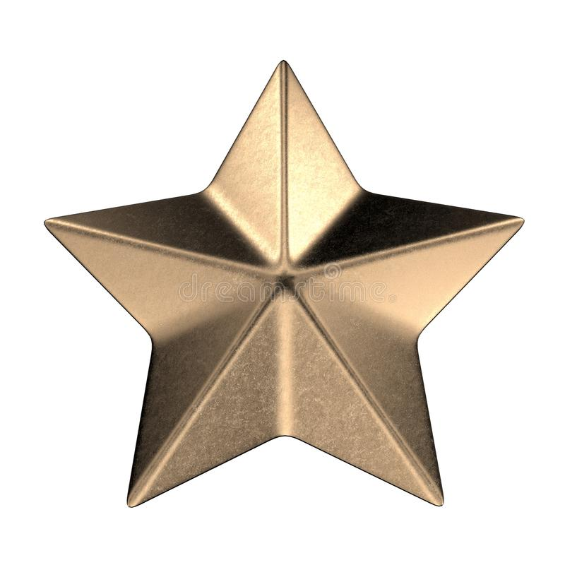 Military star 3d rendering. On white background royalty free stock images