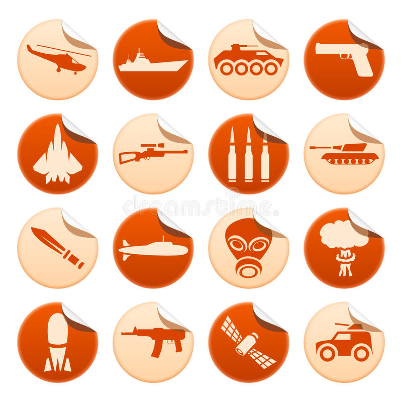 Download Military stickers stock vector. Illustration of airplane - 32930147