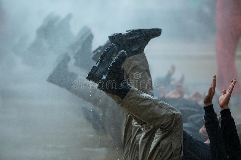 Military, strength endurance training, The endurance test of military training, commando, movement speed stock photography