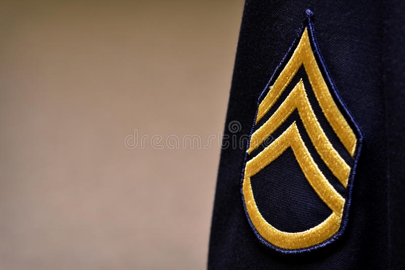 Military Stripes. On a Uniform stock image