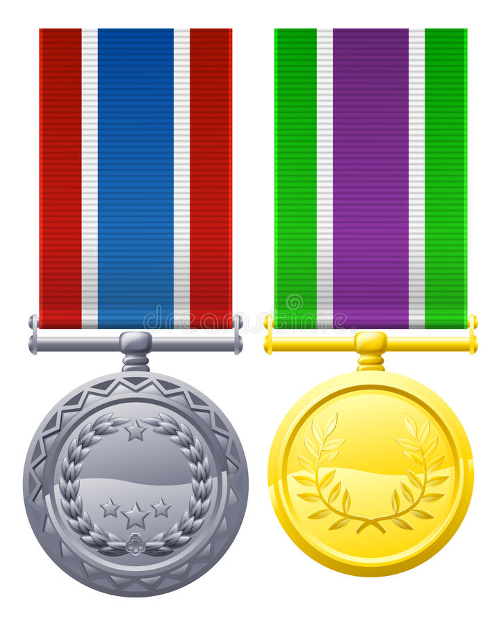 Download Military style medals stock vector. Illustration of bravery - 29436286