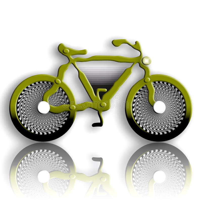 Download Military Styled Bicycle stock illustration. Illustration of design - 13074647