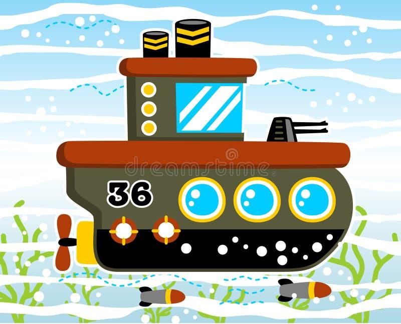 Military submarine royalty free illustration