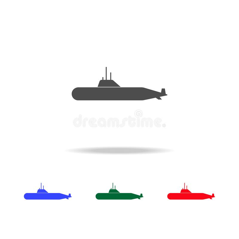 Military submarine icons. Elements of transport element in multi colored icons. Premium quality graphic design icon. Simple icon vector illustration