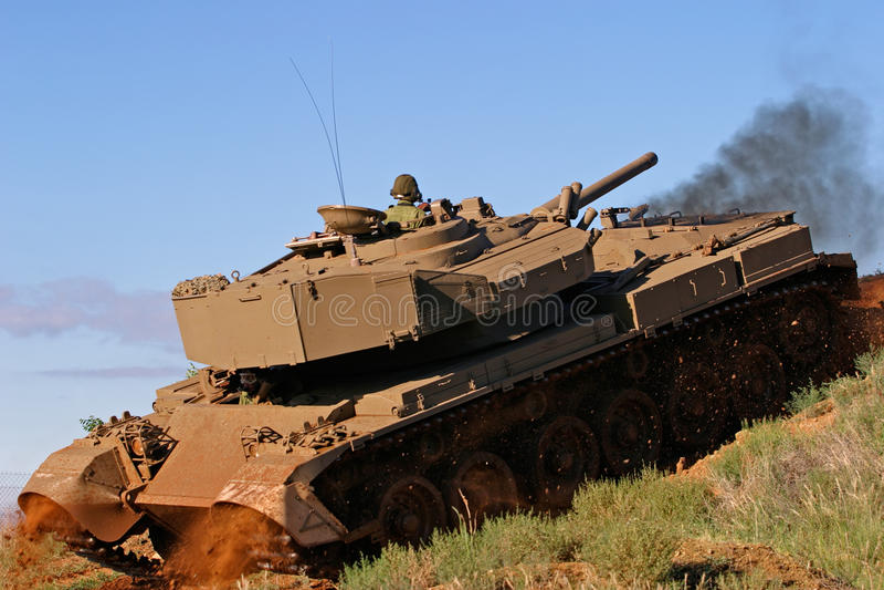 Download Military tank stock image. Image of khaki, vehicle, caterpillar - 15274045