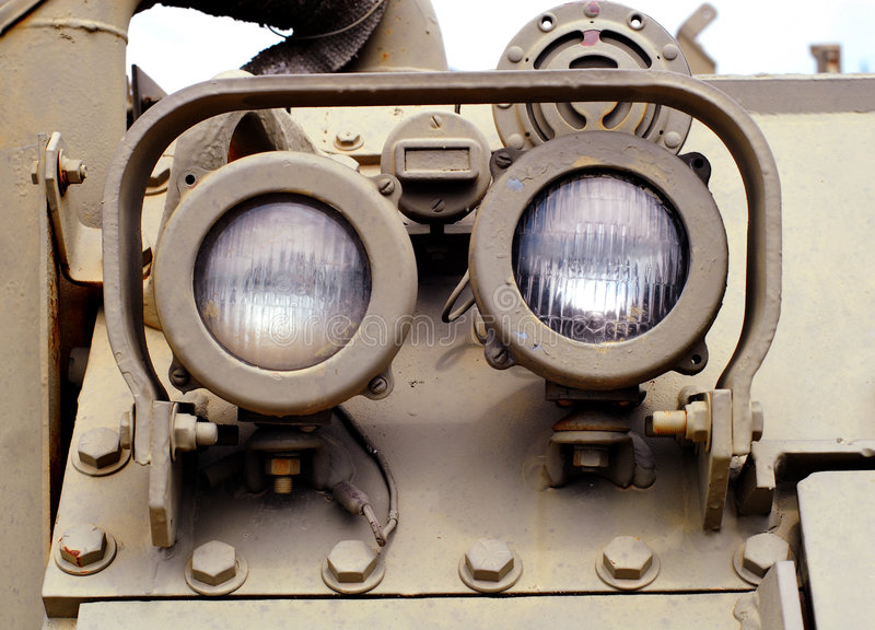 Military Tank Components. Detail Closeup royalty free stock photos