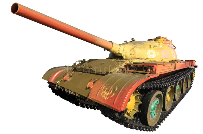 Military Tank Isolated Stock Photography
