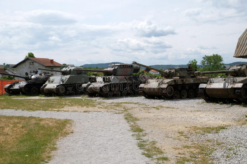 Military tanks royalty free stock photos