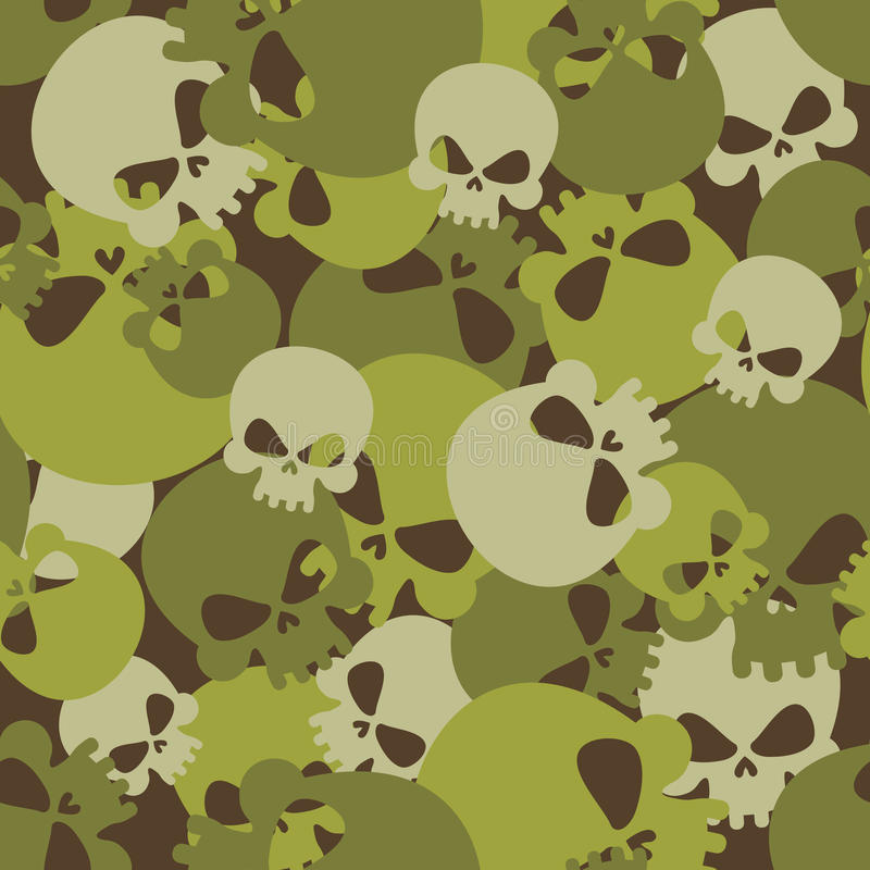 Free Military Texture Of Skulls. Camouflage Army Seamless Pattern Fro Royalty Free Stock Photos - 58116938