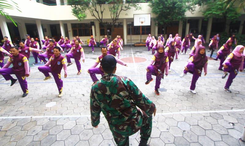 Military train teacher royalty free stock photos