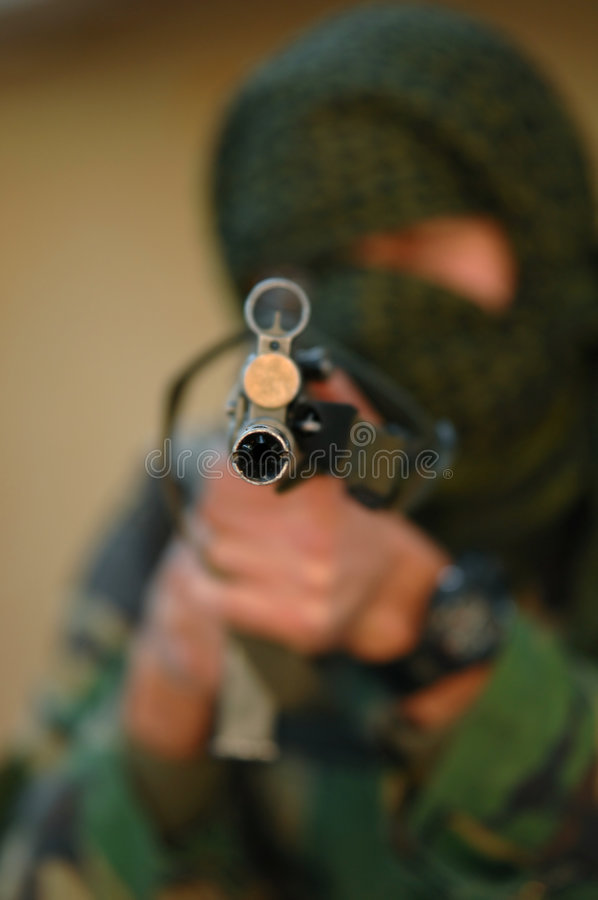 Military training combat stock photography