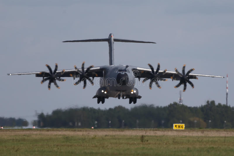 Military transporter Airbus A400M stock image