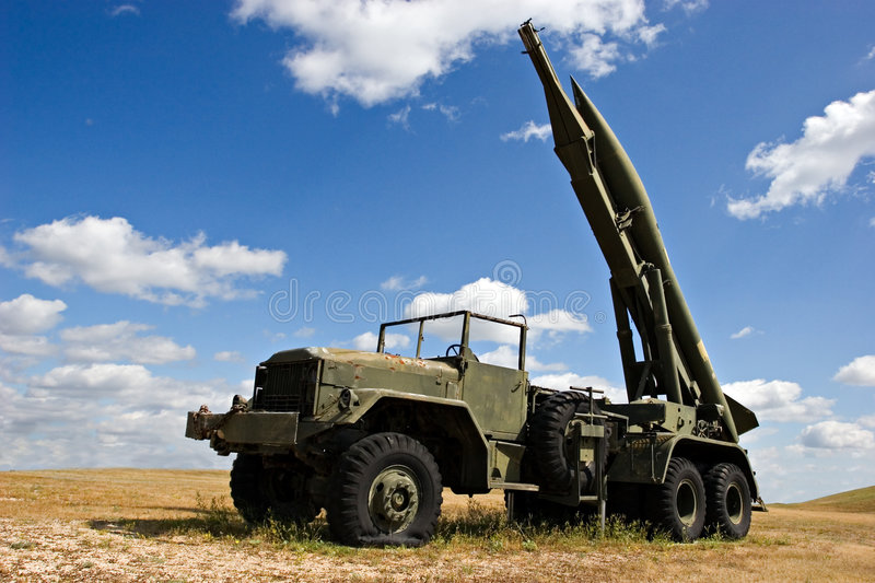 Download Military Truck stock image. Image of peace, desert, missile - 467277