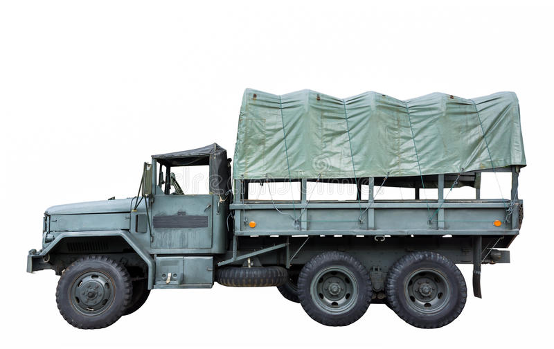 Military truck stock photography