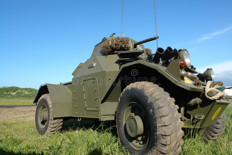 Military vehicle, old, WWII type. stock photos