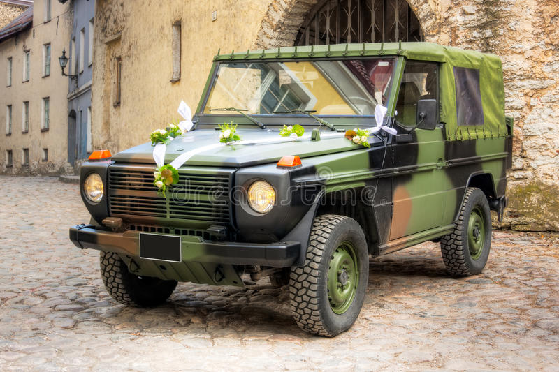 Download Military wedding vehicle stock photo. Image of colours - 19758786