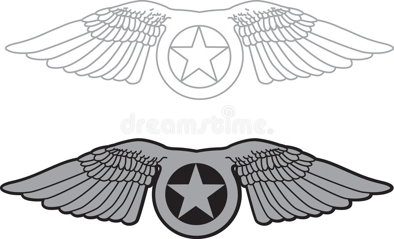 Download Military wing stock vector. Image of emblem, airplane - 1701324