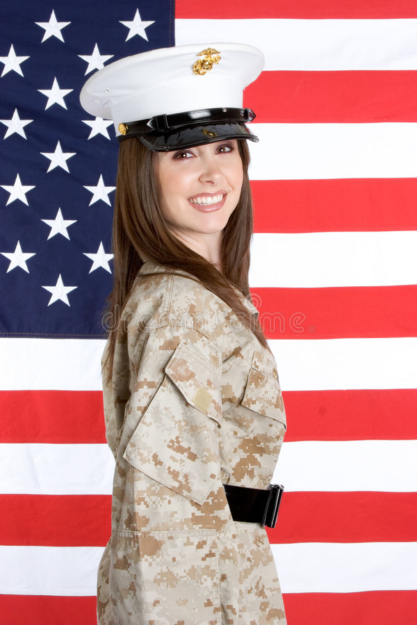 Military Woman royalty free stock photos