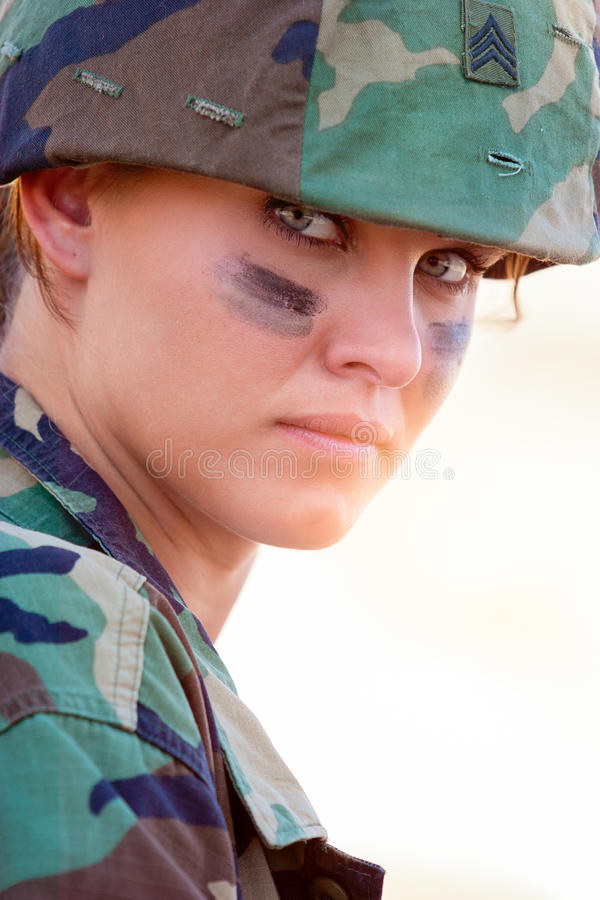 MIlitary Woman Portrait royalty free stock images