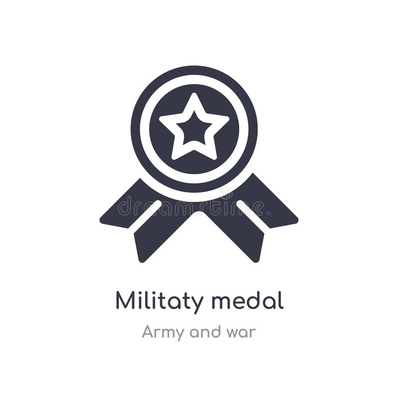 Militaty medal icon. isolated militaty medal icon vector illustration from army and war collection. editable sing symbol can be. Use for web site and mobile app royalty free illustration