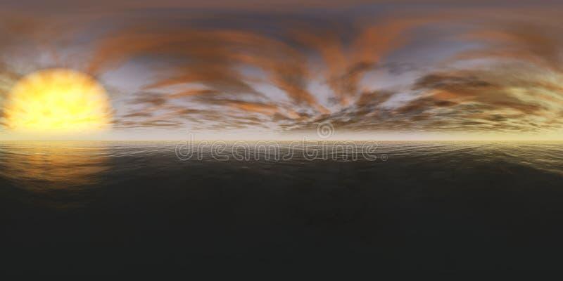 miljööversikt HDRI-översikt Equirectangular projektion Landskap arkivbilder