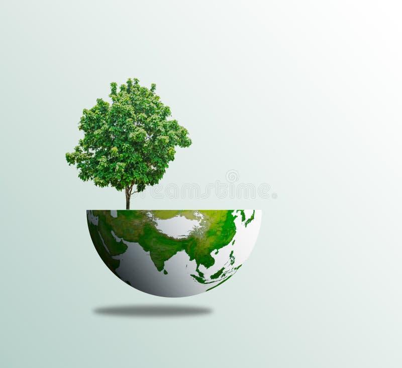 Miljö för eco för begrepp för världsträddag fotografering för bildbyråer