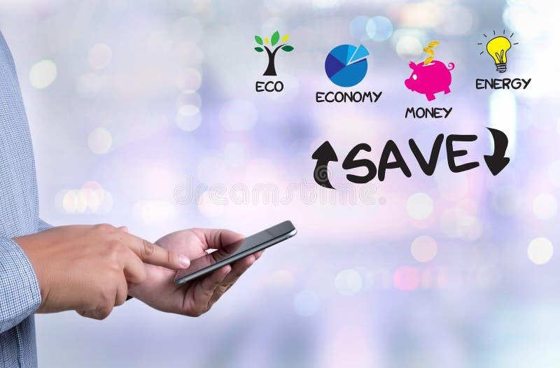 Miljö- och räddninginvestering för RÄDDNING för energi och royaltyfria foton