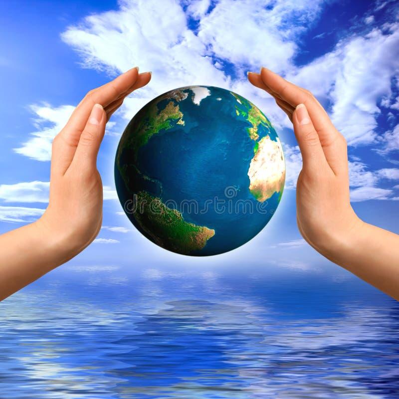 miljöbegrepp royaltyfri illustrationer