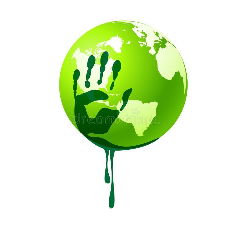 miljöbelastning stock illustrationer
