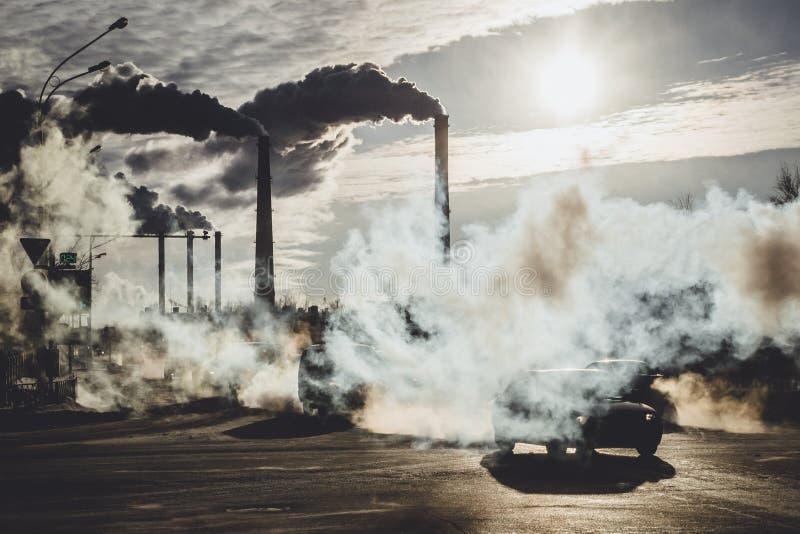 miljöbelastning i staden royaltyfri foto