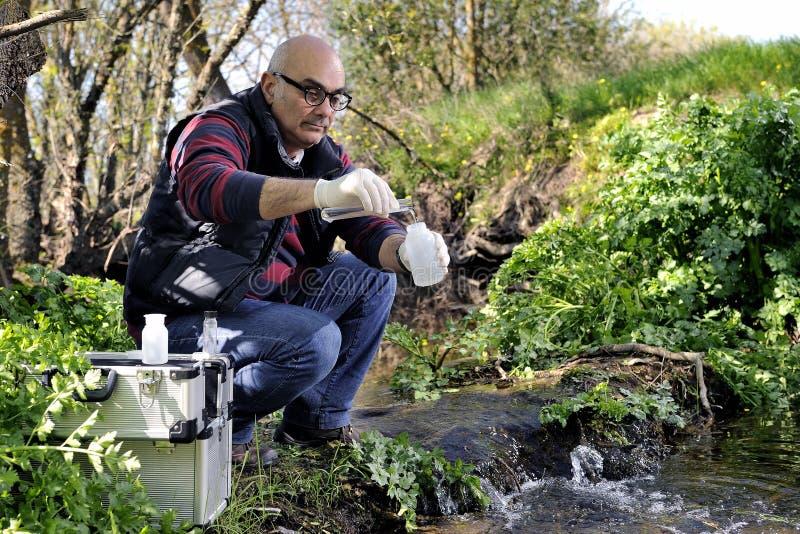 Miljöbelastningstudie av en vattenkurs royaltyfri foto