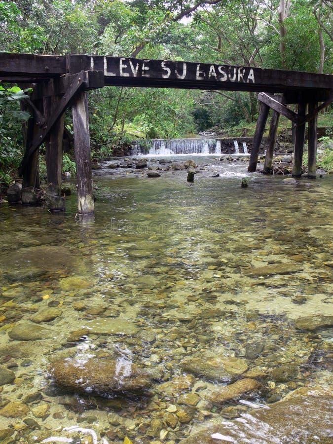 Miljöfrågor Honduras royaltyfria foton
