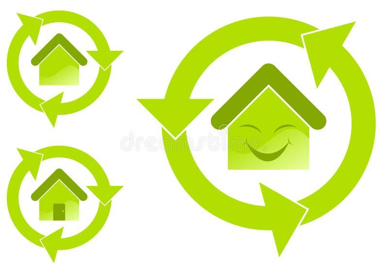miljöhus stock illustrationer