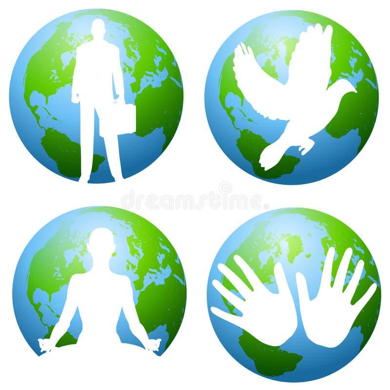 miljökonstgemjord vektor illustrationer