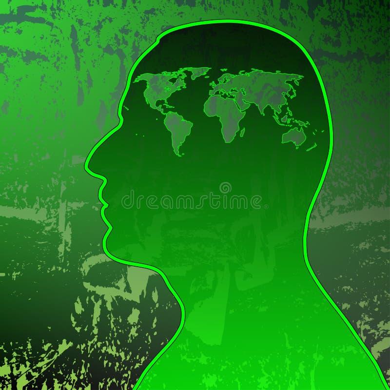 miljömedvetenhet stock illustrationer