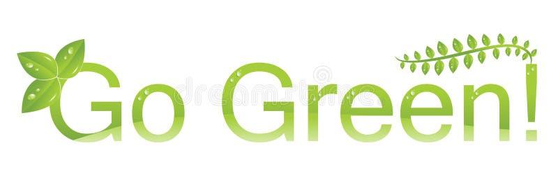 miljön går den gröna logoen skyddar vektor illustrationer