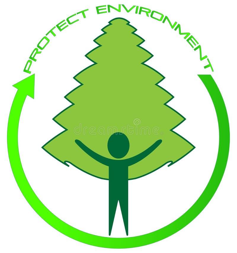 miljön skyddar stock illustrationer