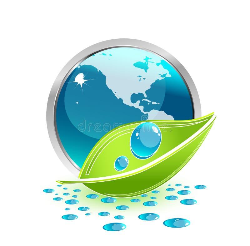 miljösymbol vektor illustrationer