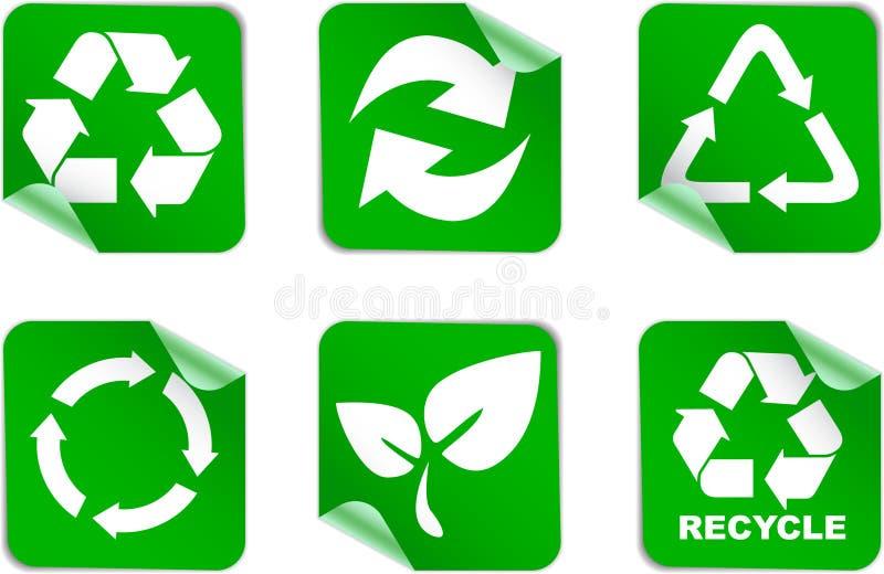 miljösymboler återanvänder vektor illustrationer