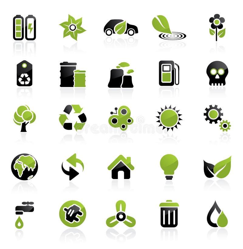 miljösymbolsset vektor illustrationer