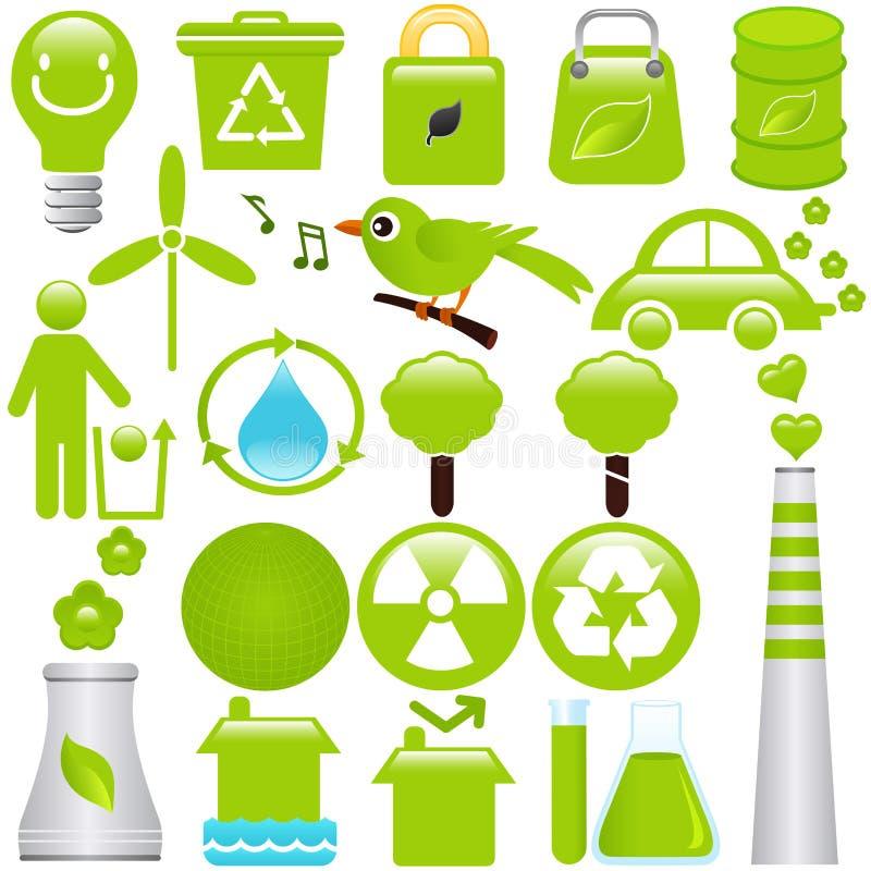 miljöbeskyddenergi vektor illustrationer