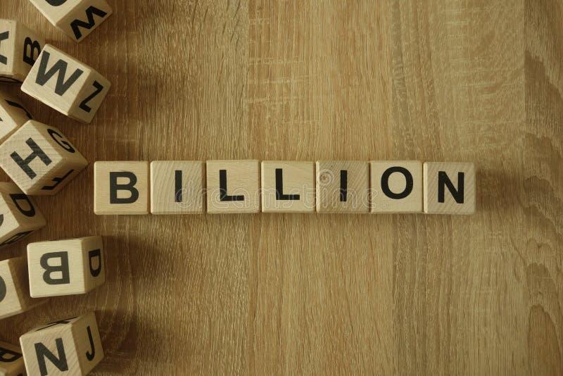 Miljard ord från träkvarter royaltyfria foton