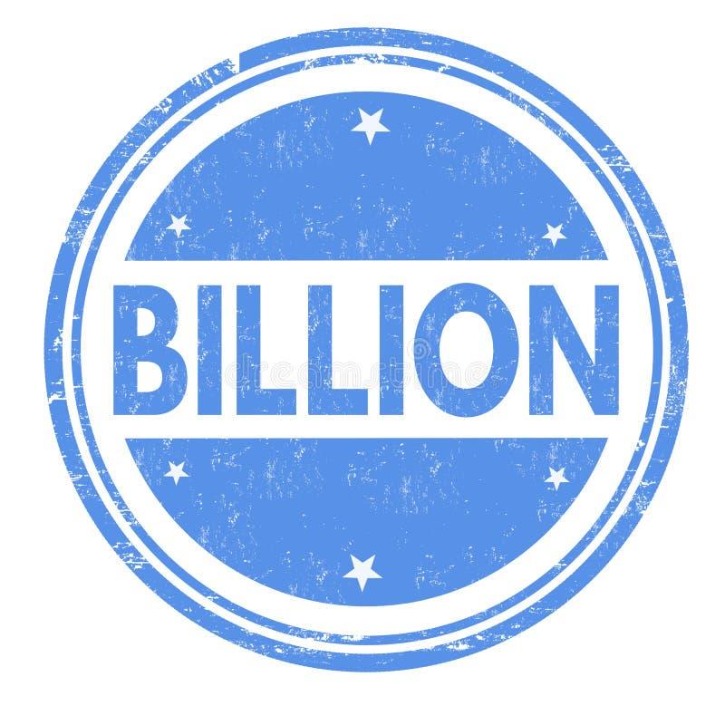 Miljard tecken eller st?mpel royaltyfri illustrationer