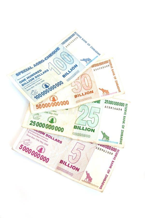 miljarddollaren bemärker zimbabwe royaltyfri foto