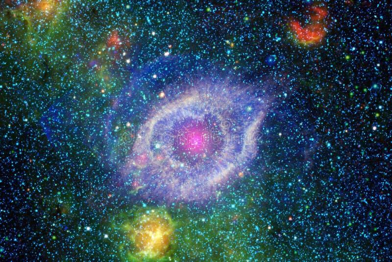 Miljarder av galaxer i universumet abstrakt bakgrundsavstånd stock illustrationer